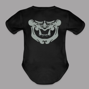 Glow Oni Mask - Short Sleeve Baby Bodysuit
