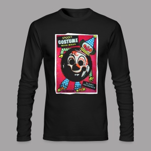 Myers Clown Costume Mask Men's Halloween T Shirt - Men's Long Sleeve T-Shirt by Next Level
