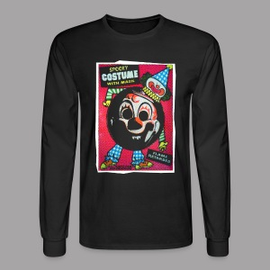 Myers Clown Costume Mask Men's Halloween T Shirt - Men's Long Sleeve T-Shirt