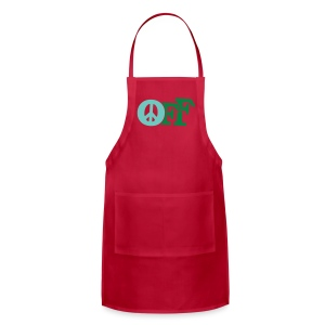 PEACE OFF (2 color customizeable!) - Adjustable Apron