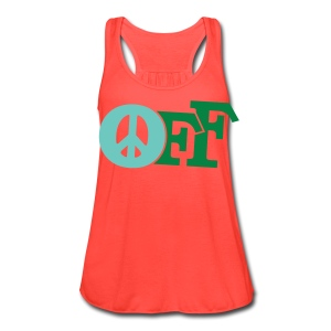 PEACE OFF (2 color customizeable!) - Women's Flowy Tank Top by Bella