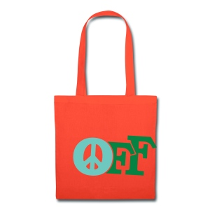 PEACE OFF (2 color customizeable!) - Tote Bag