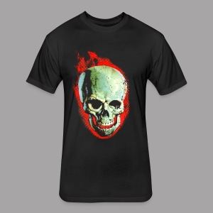 The Screaming Skull Men's Horror Movie T Shirt - Fitted Cotton/Poly T-Shirt by Next Level