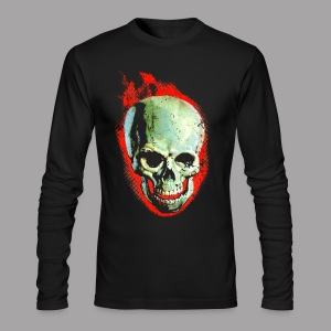 The Screaming Skull Men's Horror Movie T Shirt - Men's Long Sleeve T-Shirt by Next Level