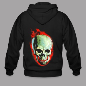 The Screaming Skull Men's Horror Movie T Shirt - Men's Zip Hoodie