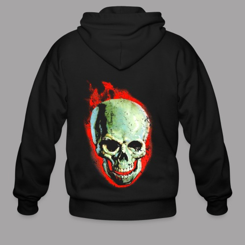 The Screaming Skull Men's Horror Movie T Shirt - Men's Zip Hoodie