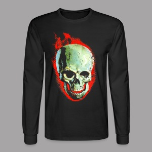 The Screaming Skull Men's Horror Movie T Shirt - Men's Long Sleeve T-Shirt