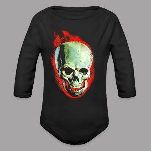 The Screaming Skull Men's Horror Movie T Shirt - Long Sleeve Baby Bodysuit