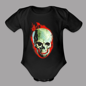 Screaming Skull Men's Horror Movie T Shirt - Short Sleeve Baby Bodysuit