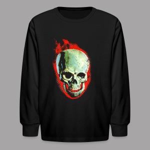 The Screaming Skull Men's Horror Movie T Shirt - Kids' Long Sleeve T-Shirt