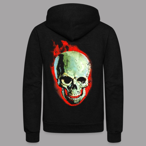 The Screaming Skull Men's Horror Movie T Shirt - Unisex Fleece Zip Hoodie