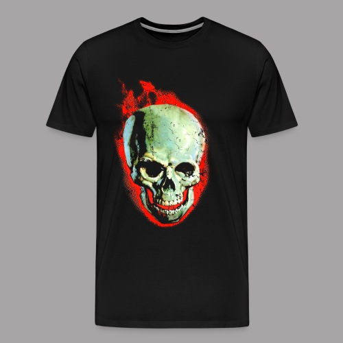 The Screaming Skull Men's Horror Movie T Shirt - Men's Premium T-Shirt