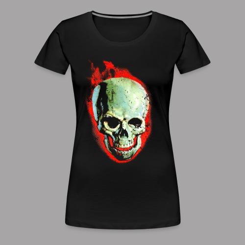 The Screaming Skull Men's Horror Movie T Shirt - Women's Premium T-Shirt