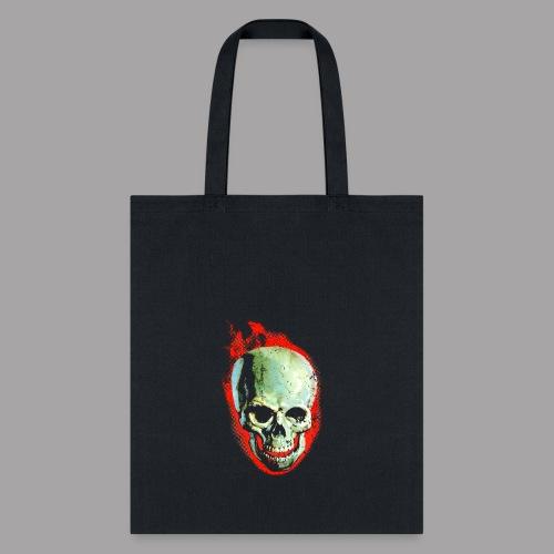 The Screaming Skull Men's Horror Movie T Shirt - Tote Bag
