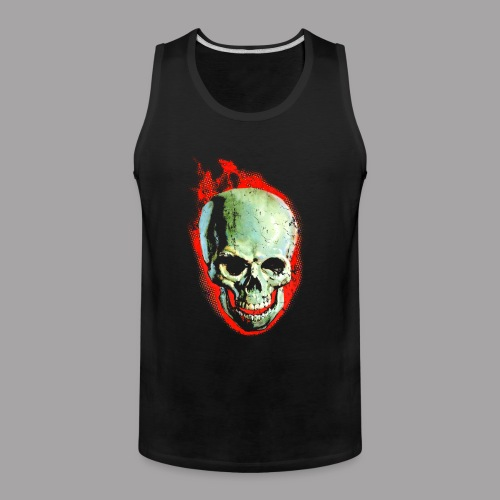 The Screaming Skull Men's Horror Movie T Shirt - Men's Premium Tank