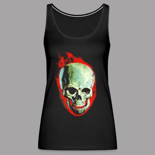 The Screaming Skull Men's Horror Movie T Shirt - Women's Premium Tank Top