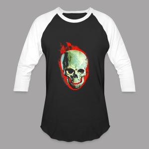 The Screaming Skull Men's Horror Movie T Shirt - Baseball T-Shirt