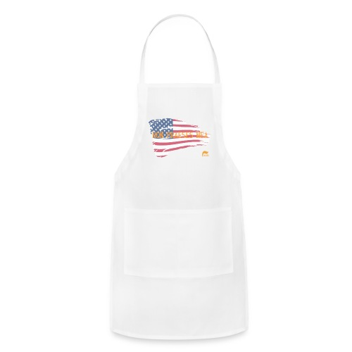 Men's t-shirt Not my president in Latin  - Adjustable Apron