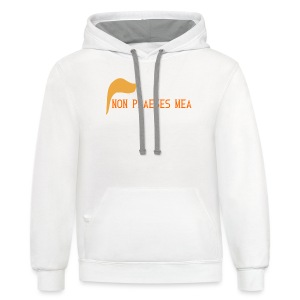 men's t-shirt Not my president in Latin  - Contrast Hoodie