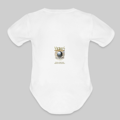 Vikings North America Beverage Cup - Organic Short Sleeve Baby Bodysuit