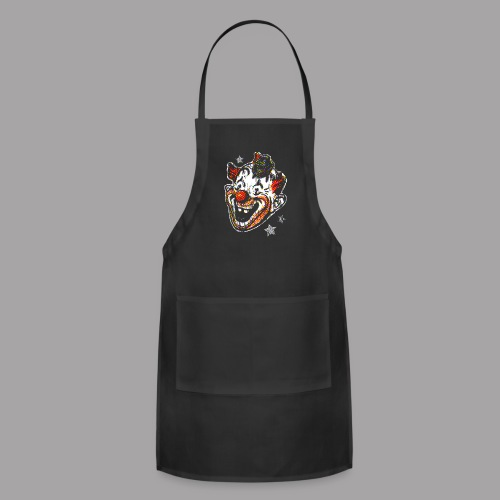 Retro Clown Topstone Mask Men's Halloween Shirt - Adjustable Apron