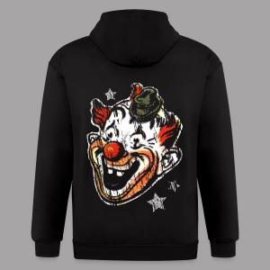 Retro Clown Topstone Mask Men's Halloween Shirt - Men's Zip Hoodie