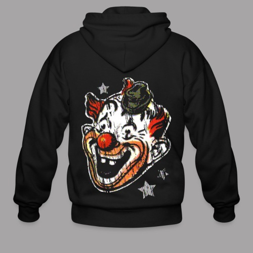 Retro Clown Topstone Mask Men's Halloween Shirt - Men's Zip Hoodie