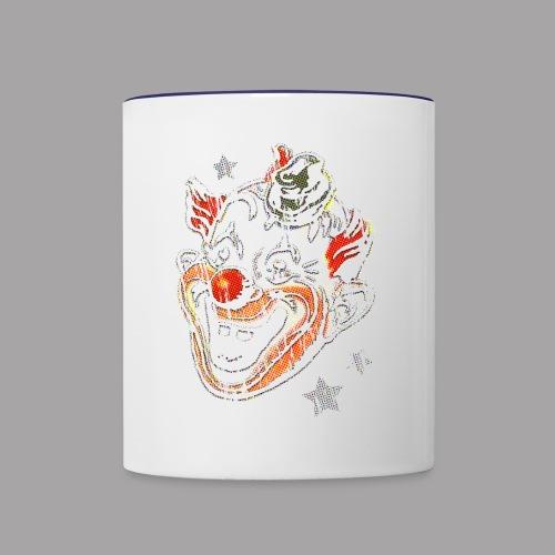Retro Clown Topstone Mask Men's Halloween Shirt - Contrast Coffee Mug