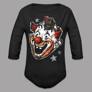 Retro Clown Topstone Mask Men's Halloween Shirt - Long Sleeve Baby Bodysuit
