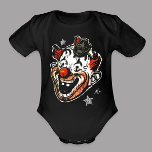 Retro Clown Mask Men's Halloween Shirt - Short Sleeve Baby Bodysuit