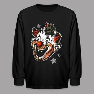 Retro Clown Topstone Mask Men's Halloween Shirt - Kids' Long Sleeve T-Shirt