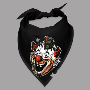 Retro Clown Topstone Mask Men's Halloween Shirt - Bandana