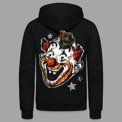 Retro Clown Topstone Mask Men's Halloween Shirt - Unisex Fleece Zip Hoodie