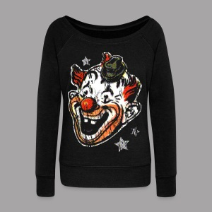 Retro Clown Topstone Mask Men's Halloween Shirt - Women's Wideneck Sweatshirt