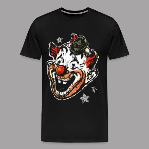 Retro Clown Topstone Mask Men's Halloween Shirt - Men's Premium T-Shirt