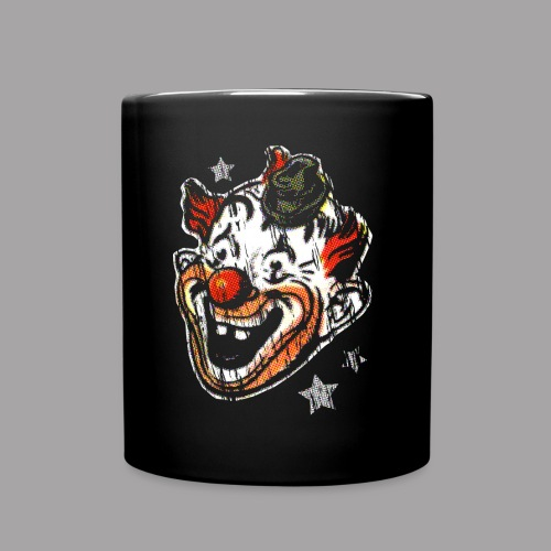 Retro Clown Topstone Mask Men's Halloween Shirt - Full Color Mug