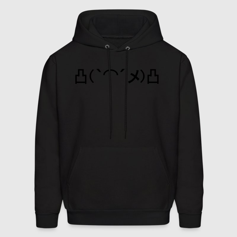 Mo' Angry Glow in the Dark Japanese Emoticon Hoodies - Men's Hoodie