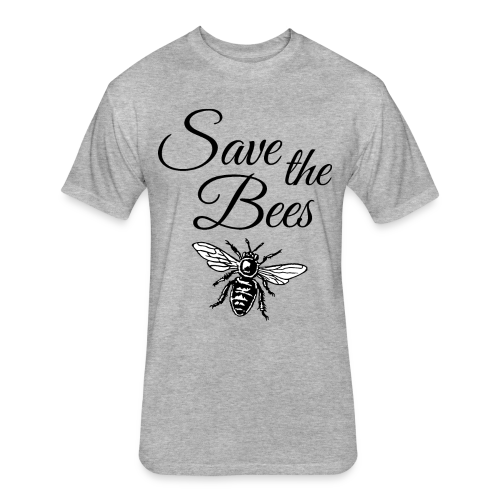 Save the Bees Beekeeper T-Shirt - Fitted Cotton/Poly T-Shirt by Next Level