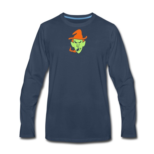 Angry Halloween Witch - Men's Premium Long Sleeve T-Shirt