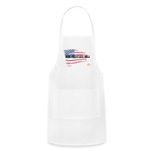 Men's Premium  T-shirt Not my president in Latin with flag - Adjustable Apron