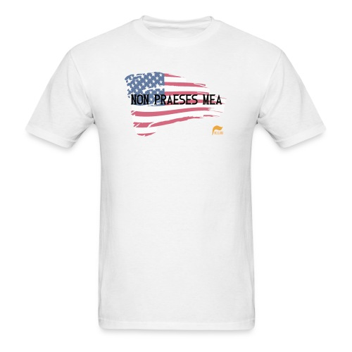 Men's Premium  T-shirt Not my president in Latin with flag - Men's T-Shirt