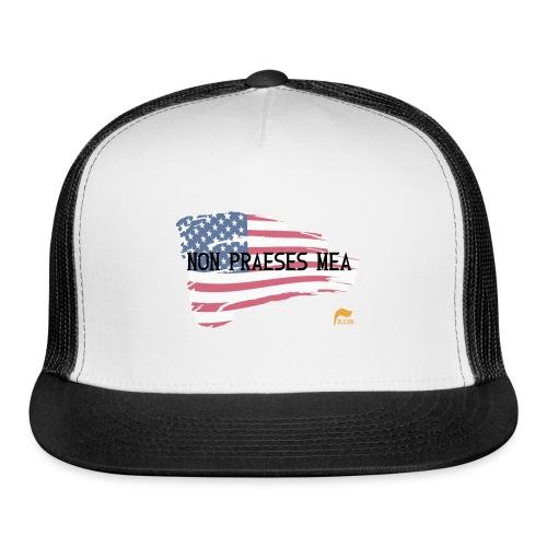 Men's T-shirt Not my president in Latin with flag - Trucker Cap