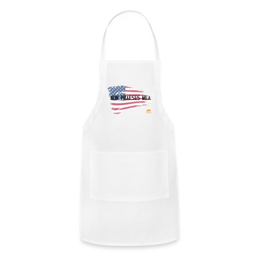 Men's T-shirt Not my president in Latin with flag - Adjustable Apron