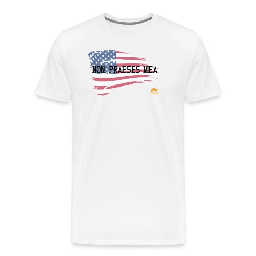 Men's T-shirt Not my president in Latin with flag - Men's Premium T-Shirt