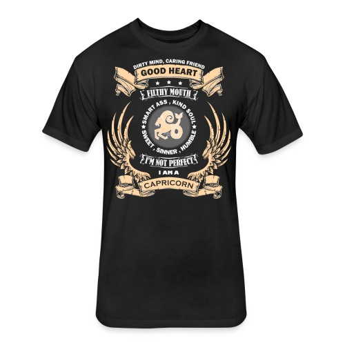 Zodiac Sign - Capricorn - Fitted Cotton/Poly T-Shirt by Next Level