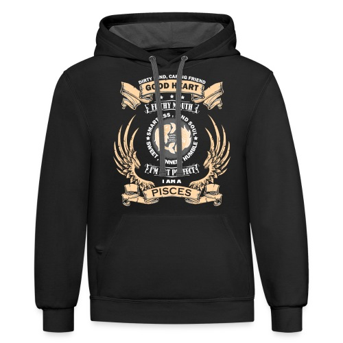 Zodiac Sign - Pisces - Contrast Hoodie