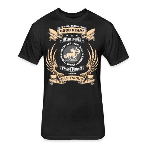 Zodiac Sign - Sagittarius - Fitted Cotton/Poly T-Shirt by Next Level