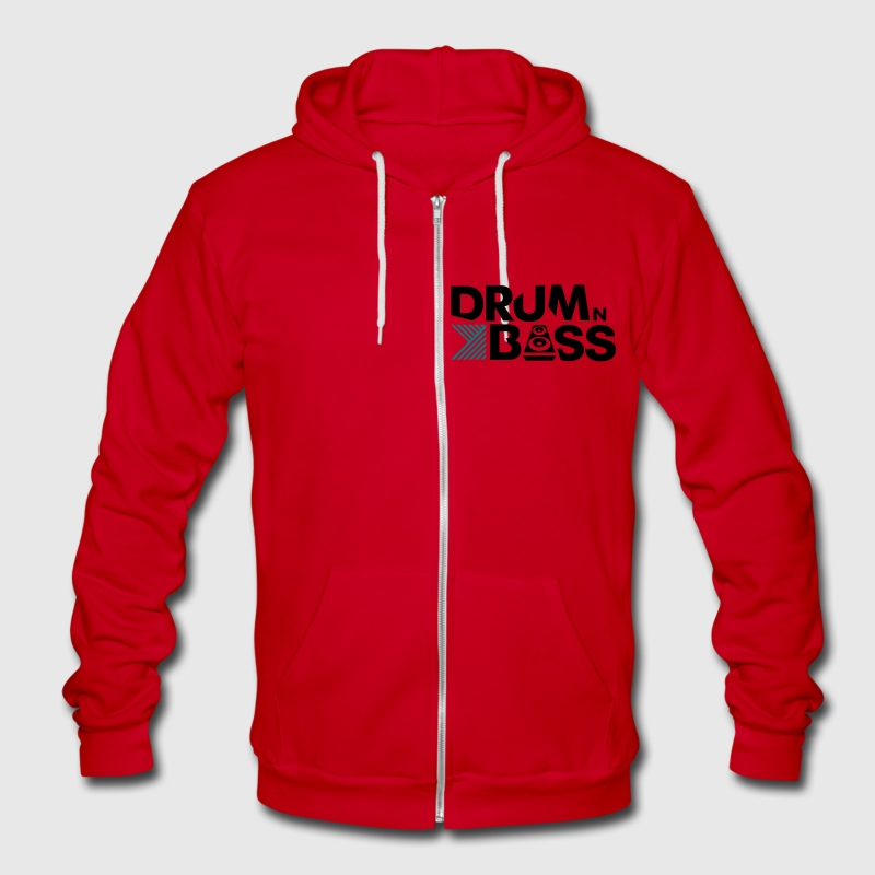 Drum n Bass - Unisex Fleece Zip Hoodie by American Apparel