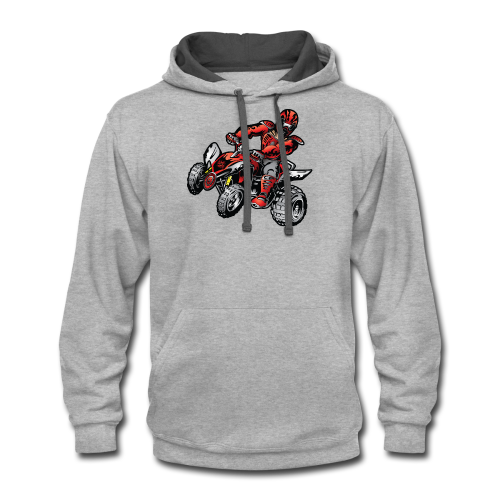 Red Off-Road ATV Quad - Contrast Hoodie