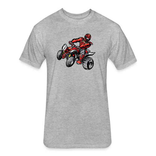 Red Off-Road ATV Quad - Fitted Cotton/Poly T-Shirt by Next Level
